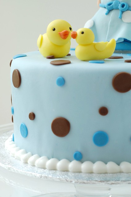 polka dot baby shower cake ducks flickr photo sharing