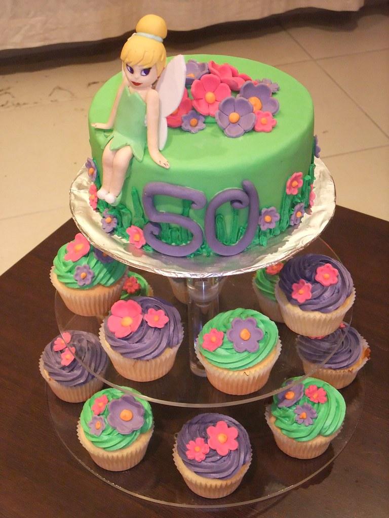 Tinkerbell Cake Amp Cupcakes Cake Chocolate Mudcake With