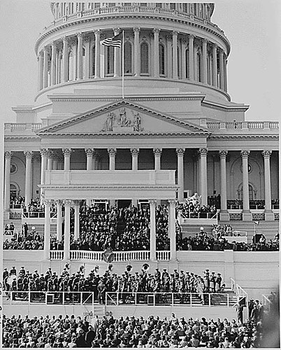 The inaugural stand in front of the Capitol Building, Washington, DC...01/20/1949. | by The U.S. National Archives