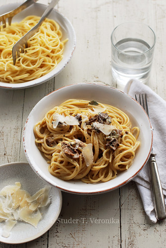Blue cheese porcini spaghetti | by StuderV