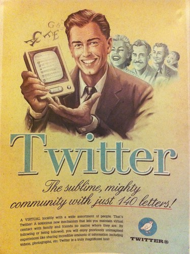 Twitter promotional poster from the 1960s. #timewarp | by inju