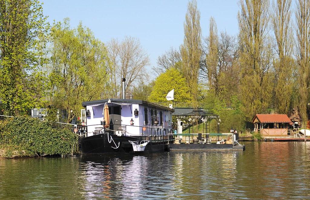 Hausboot Hamburg 6252 billeufer mit hausboot flüsse in hamburg bille flickr