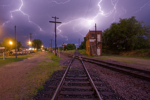 Lightning at the Interlocker (2 of 3); Albert Lea, MN | by Ottergoose