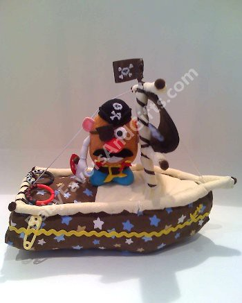 How To Make Pirate Ship Diaper Cake