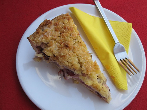 Vegan Cherry and Apple Crumble | by veganbackpacker