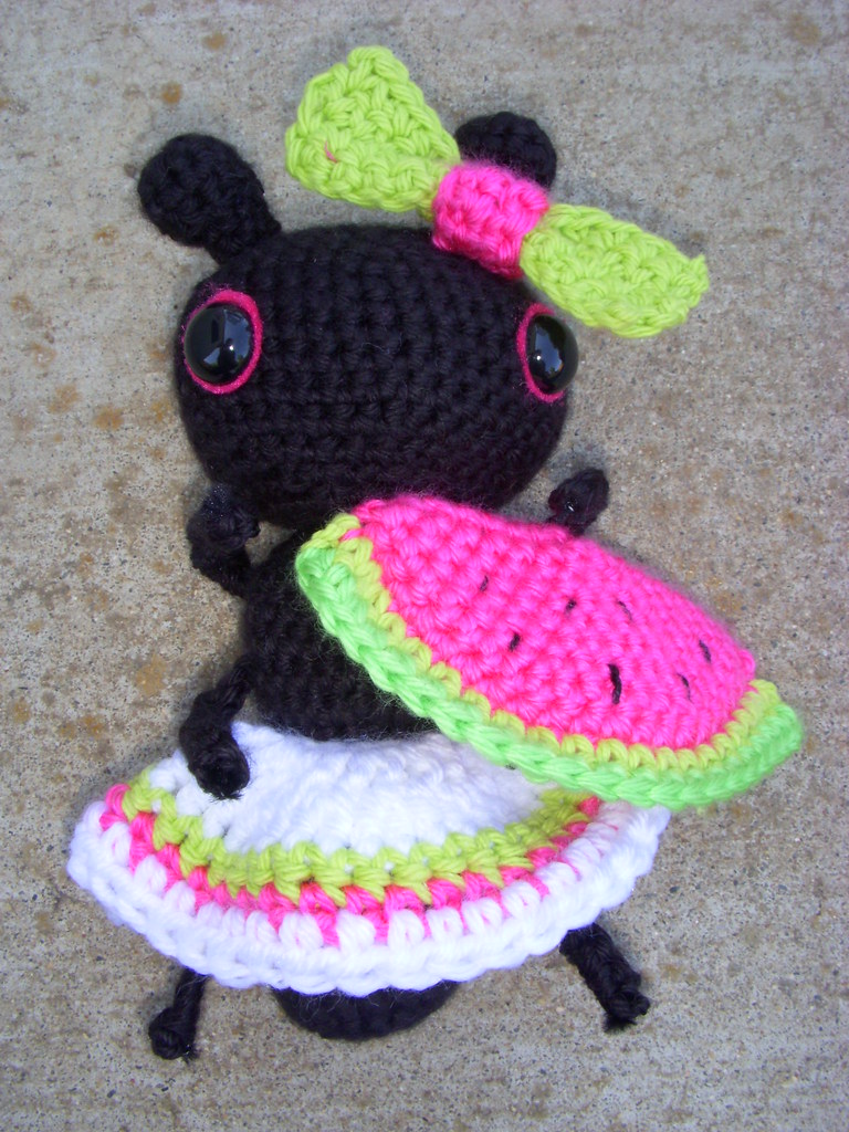 ant and watermelon june 2010 amigurumi maggie keith ...