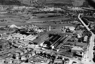 Idle Bradford Aerial View Of Jowetts Cars Early 1950s | by combomphotos