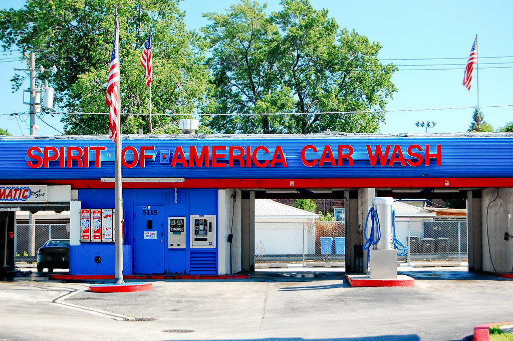 spirit of america car wash patriotism along 63rd street 5 flickr. Black Bedroom Furniture Sets. Home Design Ideas