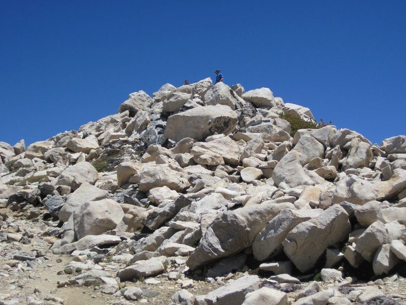 The rocky summit of San Gorgonio Mountain. Just a few more steps and we'd be on top!
