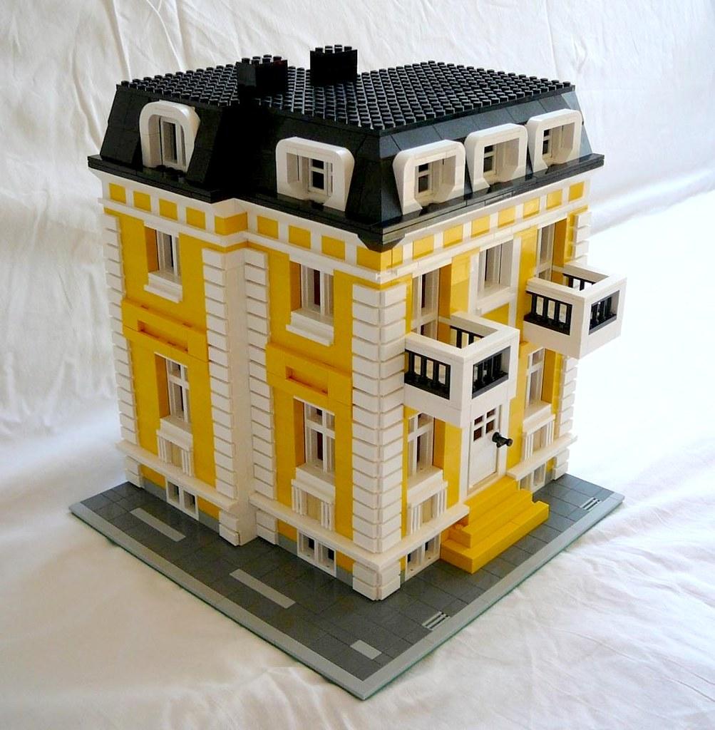 Построить большой дом из лего схема