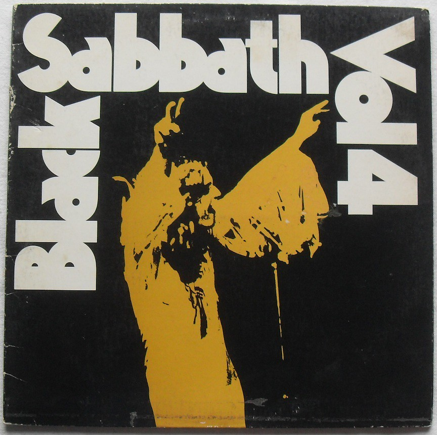 1972 Black Sabbath Vol 4 1970s Vinyl Lp Record Album Slee