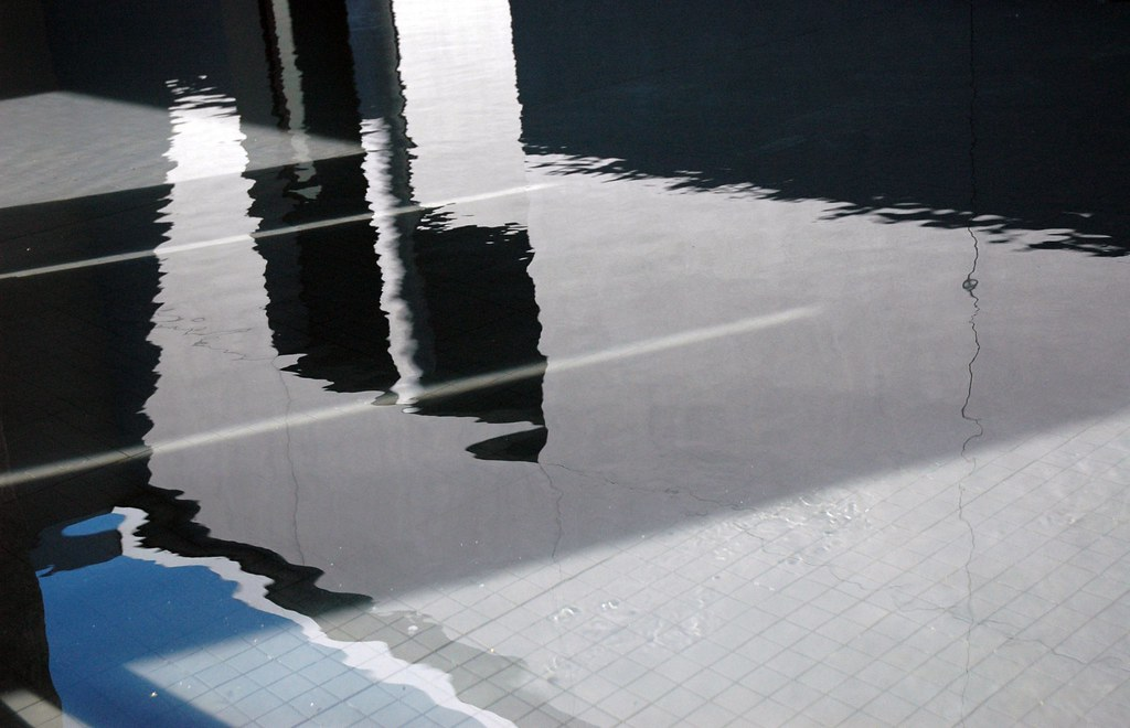 Abstract Reflecting Pool Entrance Frye Art Museum Seat
