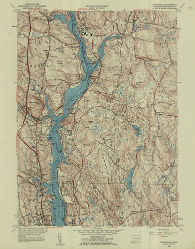 Uncasville Quadrangle 1958 - USGS Topographic Map 1:24,000 | by uconnlibrariesmagic