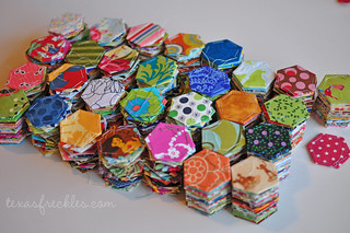 Hexagon Charm Quilt :: Progress | by texas freckles | Melanie