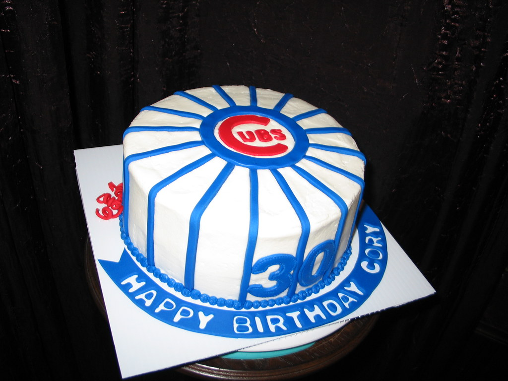 Cubs Birthday Cake Cubs Themed Cake For A 30th Birthday Rick