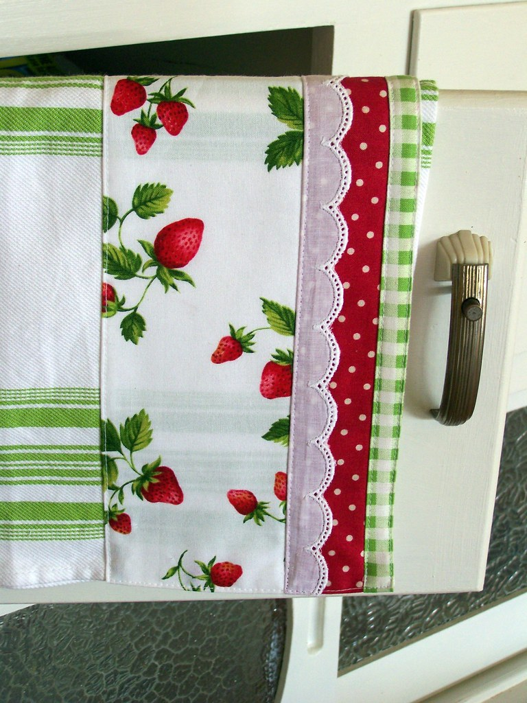 Strawberry Kitchen Tea Towel Enjoy This Decorative