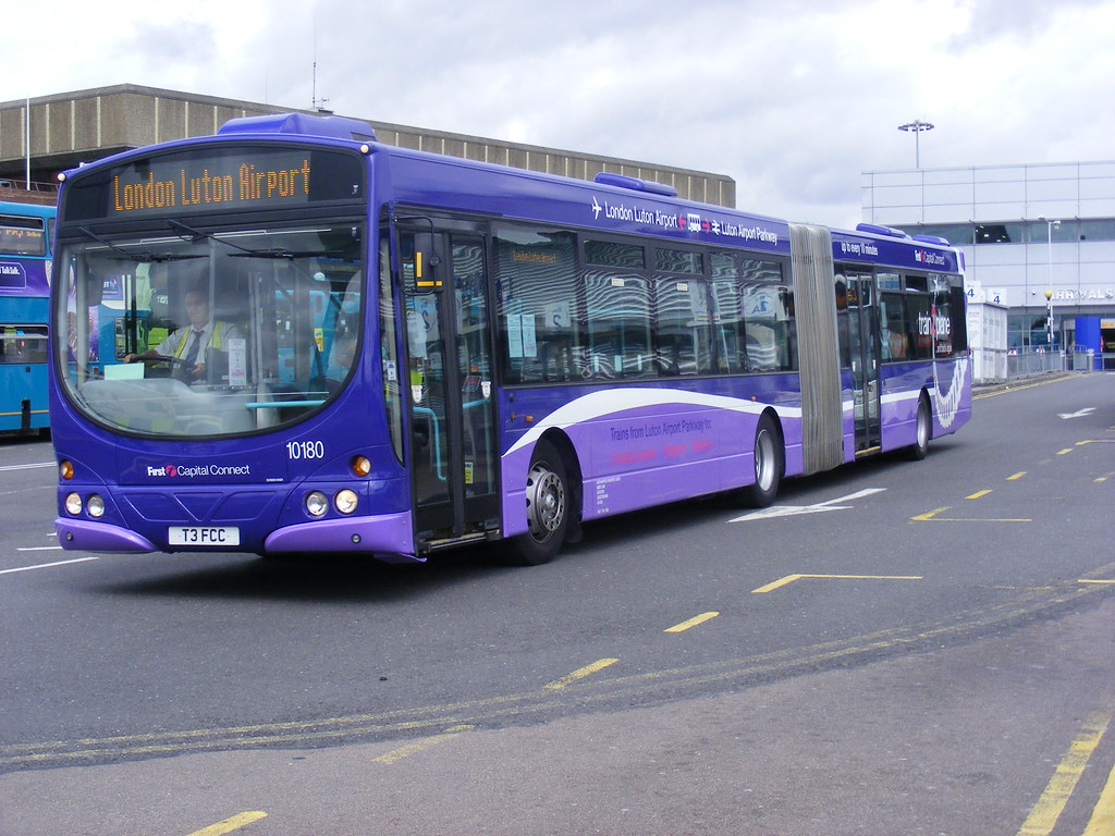 First Northampton . 10180 T3FCC ( ex WX55HWF ). Luton Airp ...