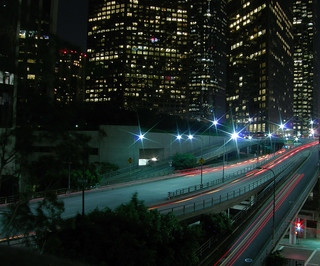 Downtown LA light trails + another in comment | by Ianmoran1970