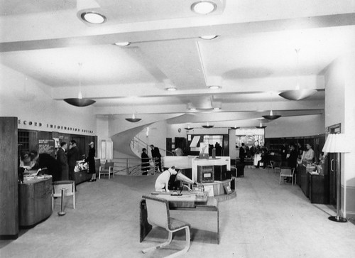 hmv 363 Oxford Street, London - Interior of store looking towards the front of shop 1940s
