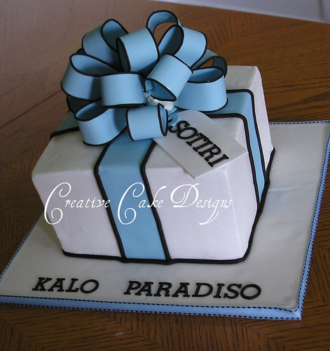 Birthday Cake Designs In Square : Buttercream present cake. First square buttercream cake ...