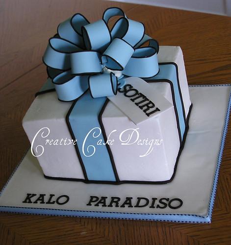 ... present cake.  First square buttercream cake! V…  Flickr