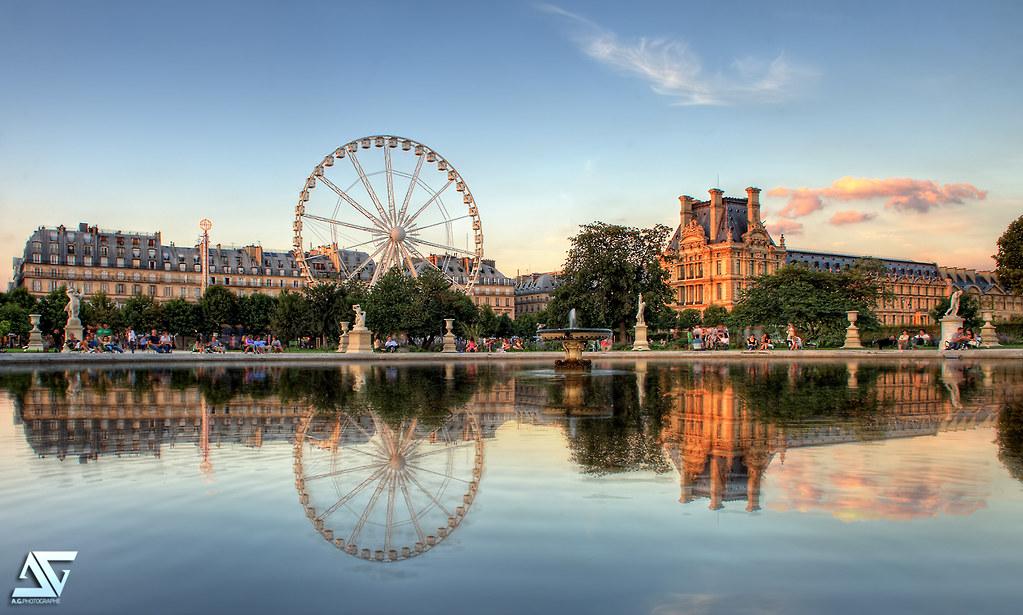 Jardin des tuileries couch de soleil sur le jardin des for Jardin des tuileries