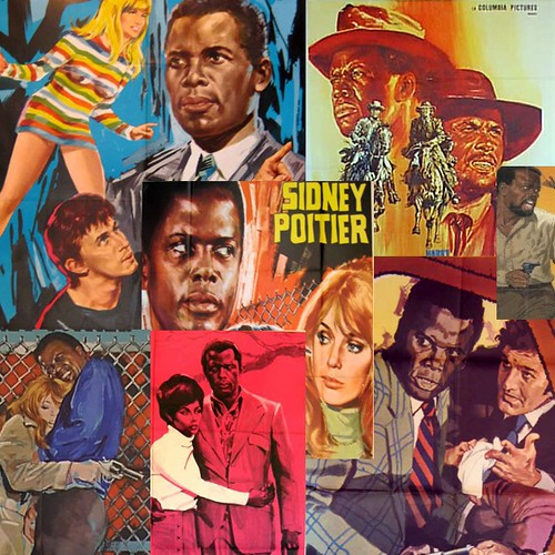 The Movie Poster Art of Sidney Poitier | by museumofuncutfunk