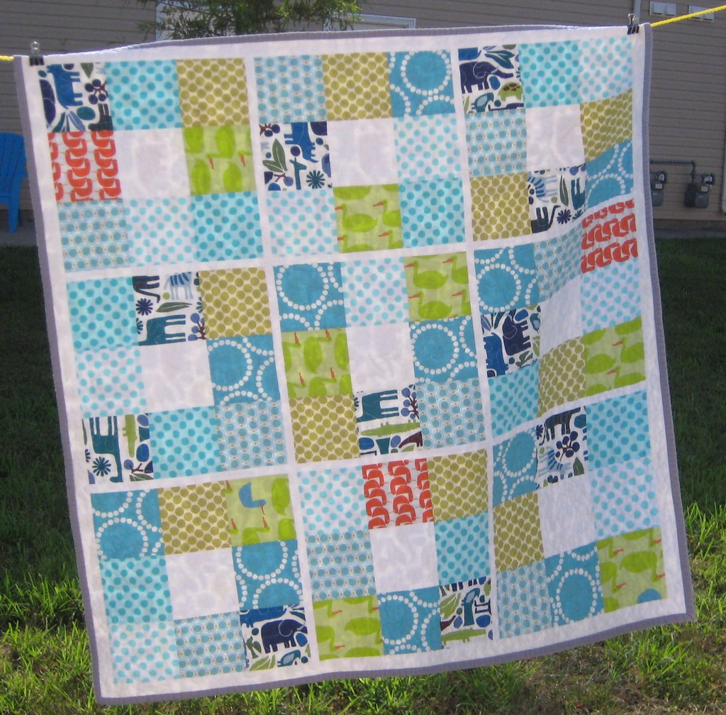 Animal Square Dance I Made This Quilt A Few Months Ago