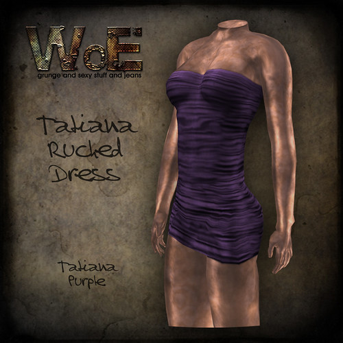 Tatiana Ruched Dress - Purple | by :. WoE .:
