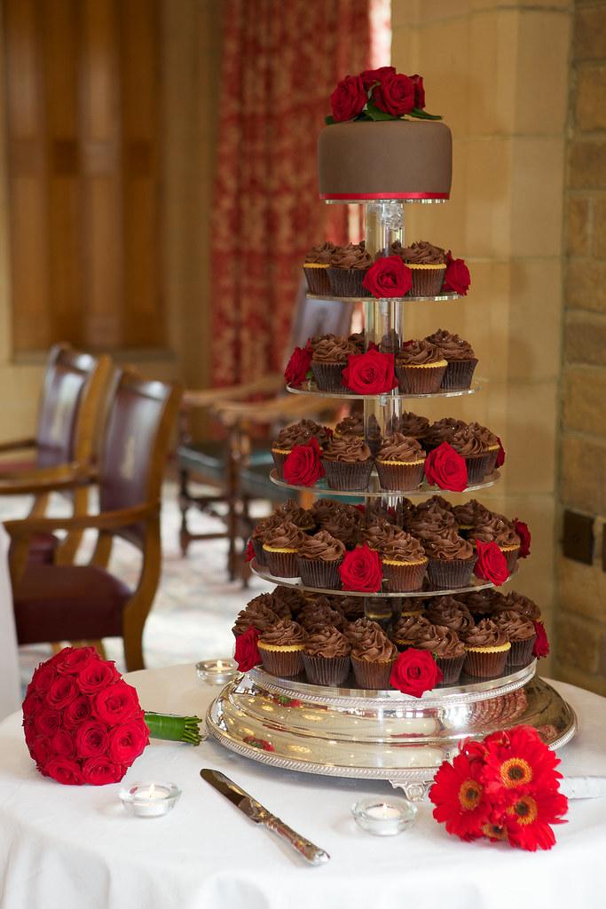 Chocolate Wedding Cake With Roses