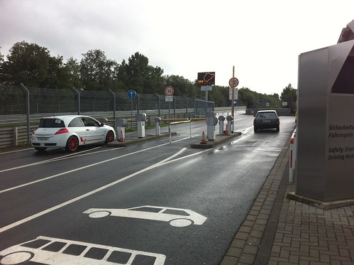 new toll gates at the nordschleife | by dennis