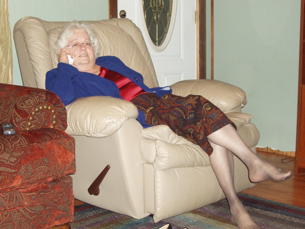 Granny stocking feet