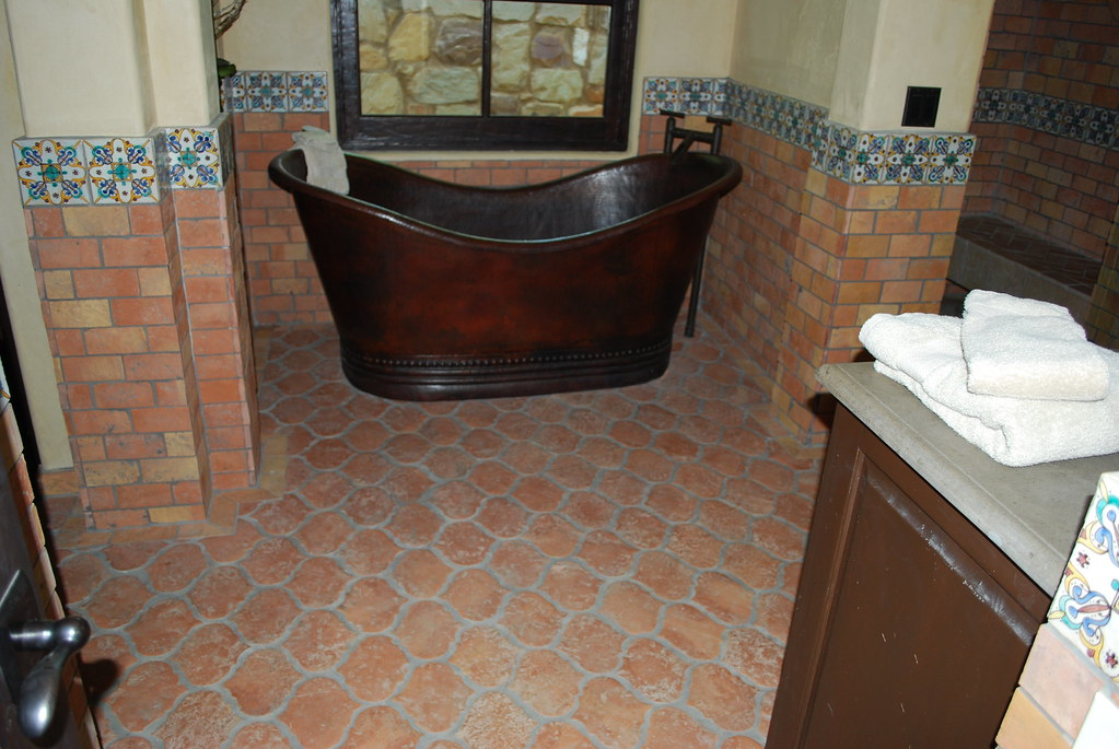 Terracotta Flooring In Bathrooms Riviera Terracotta Tile I Flickr