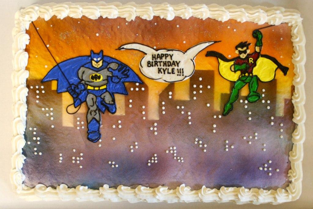 Batman Robin Birthday Cake Robin Schantz Flickr