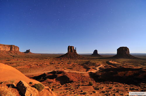 Monument Valley in Moonlight | by Habub3
