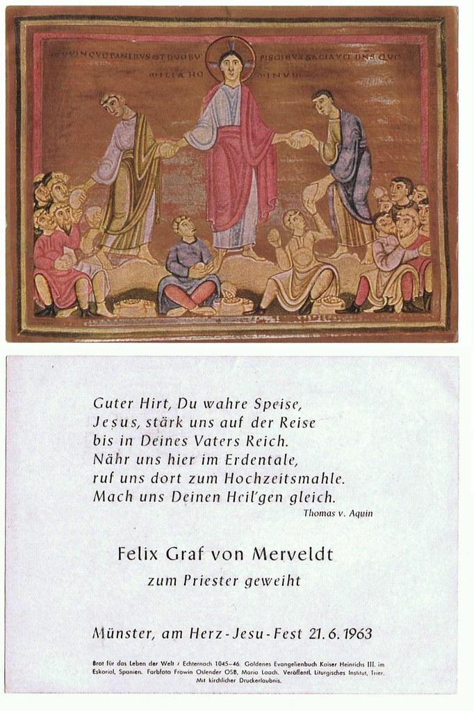 Priesterweihe Merveldt, Felix Graf von am 21.06.1963