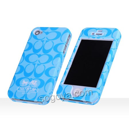coach iphone case blue coach simplicity series cover for iphone 4 1665