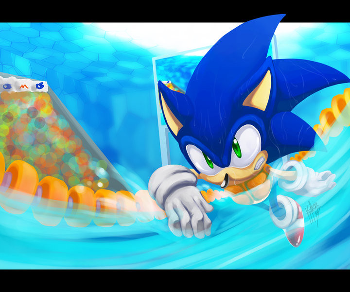 How Sonic Can Swim In The Mario And Sonic Olympic Games - Siliconera