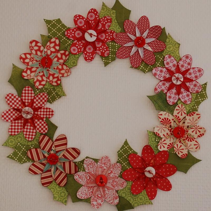 Christmas flower paper wreath ditte flickr christmas flower paper wreath by dittepigen mightylinksfo