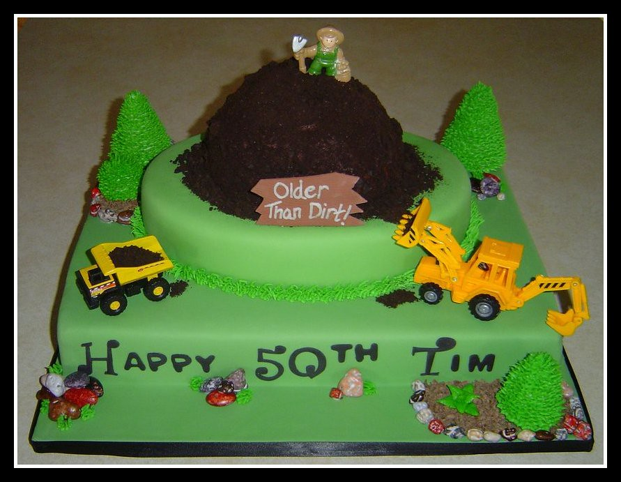 Landscape Theme Birthday Cake Officially On My July
