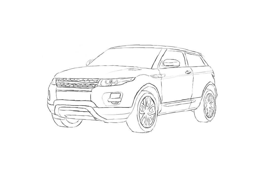 This is a picture of Dramatic Range Rover Drawing