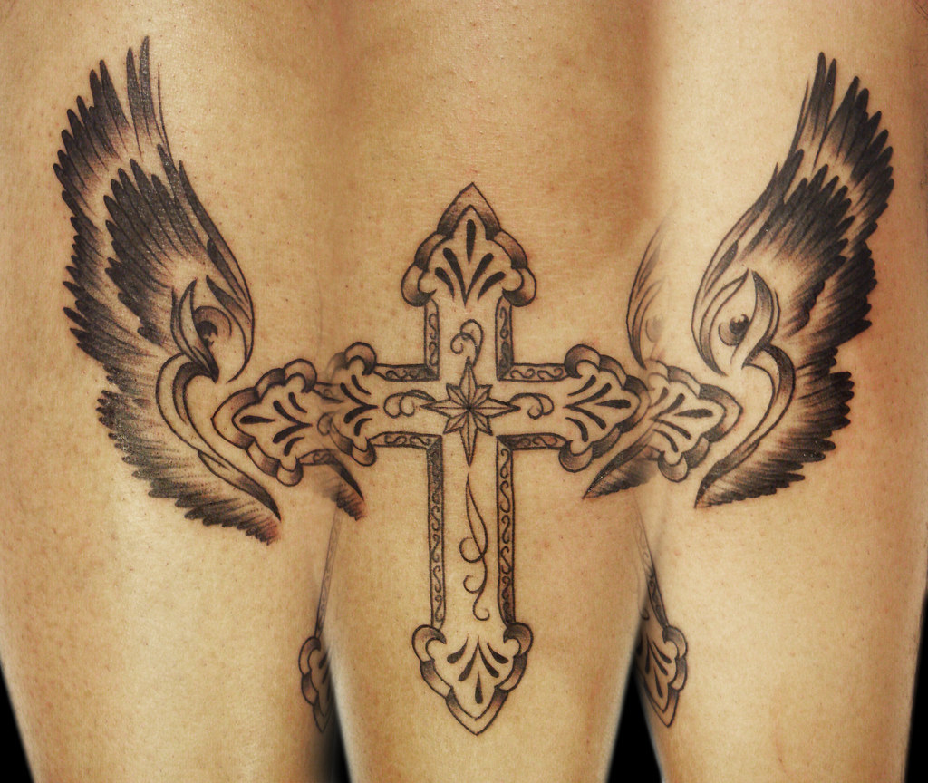 Cross With Wings Tattoo Miguel Angel Custom Tattoo Artist Flickr