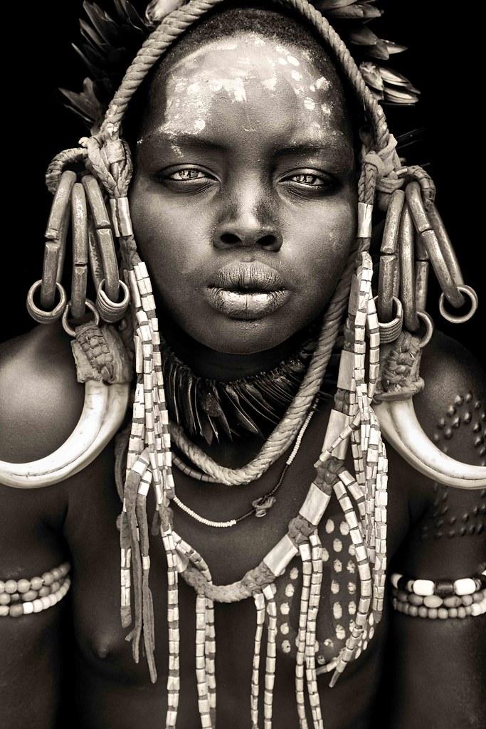 Maydo  Mursi Girl From Mago National Park  Omo Valley  Flickr-1704