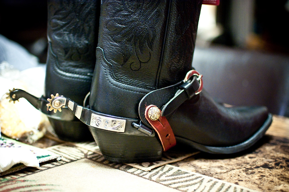 My Cowboy Boots Complete With Real Spurs I Figured