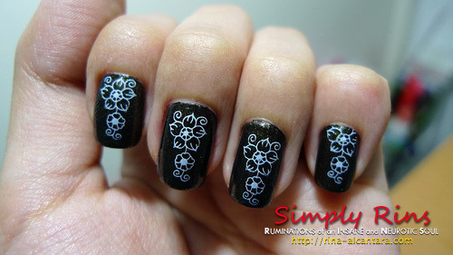 Konad Stamping Nail Art M36 Visit Simply Rins At Rina Alca Flickr