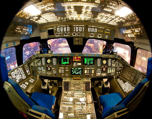 space shuttle home cockpit -#main