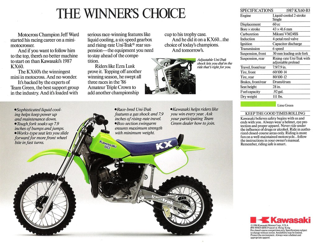 1987 kx60 brochure back scan of the back of the sales broc flickr rh flickr com Kawasaki A1 2000 kawasaki kx60 manual pdf