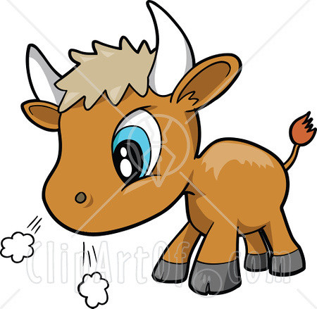 13060-Cute-Baby-Bull-Preparing-To-Charge-Clipart-Graphic-I… | Flickr
