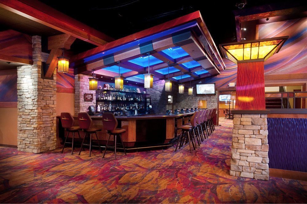 Casino bar decor design custom designed valance overhang for Bar dekoration