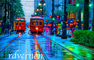 Canal and City Park Streetcars | by teladair